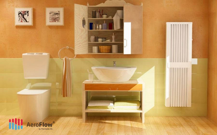 Photos de radiateurs lectriques inertie en situation - Radiateur infrarouge salle de bain ...